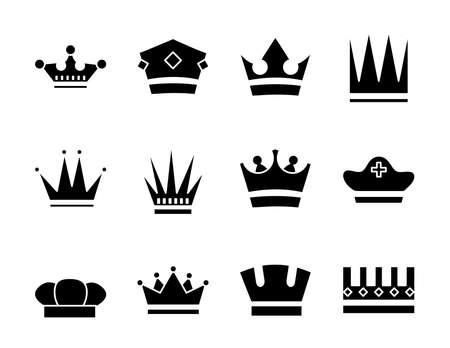 bundle of crowns royal set icons vector illustration design Vektoros illusztráció