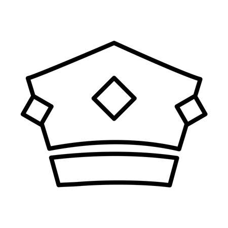 royal crown of baron line style icon vector illustration design  イラスト・ベクター素材