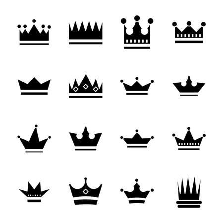 bundle of crowns royal set icons vector illustration design Vetores