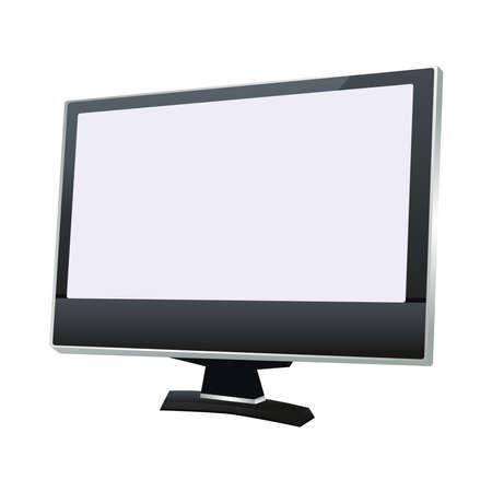 desktop computer monitor device digital vector illustration design