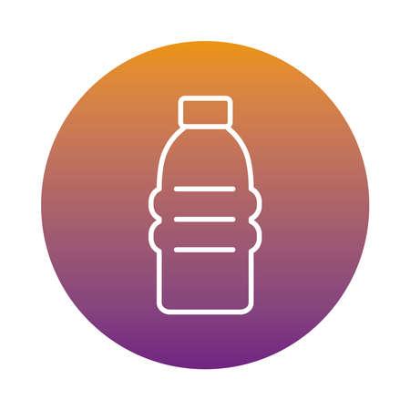 water gym bottle block style icon vector illustration design