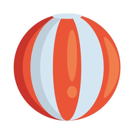 balloon beach sport accessory icon vector illustration design Illustration
