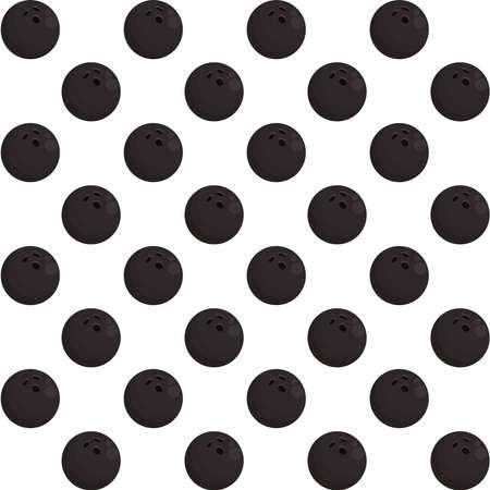 bowling balls sport equipment pattern vector illustration design