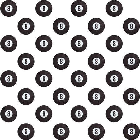 billiard eight ball isolated icon vector illustration design Ilustrace