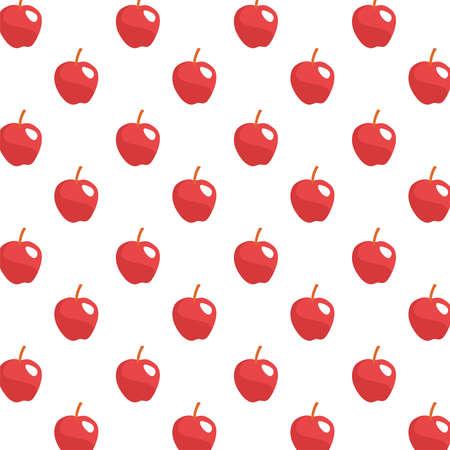 apples fresh fruits pattern background vector illustration design