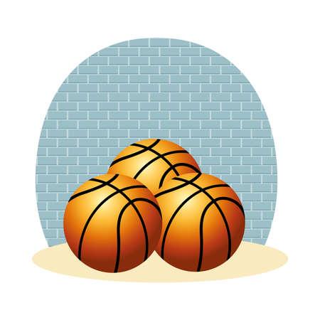 basketball balls sport isolated icons vector illustration design Stock Illustratie