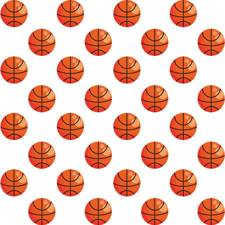 basketball balloons sport pattern background vector illustration design Stock Illustratie