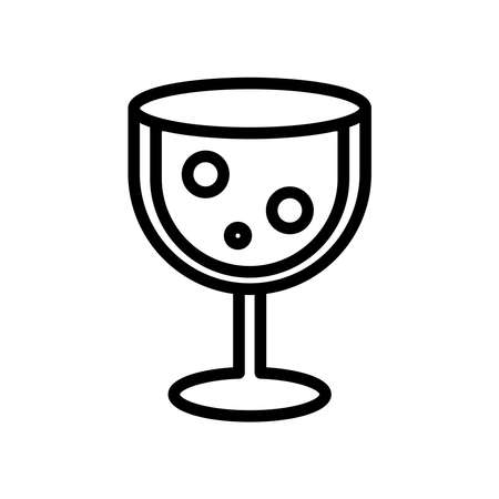 wine cup line style icon vector illustration design
