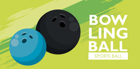 bowling sport balls equipment icons vector illustration design