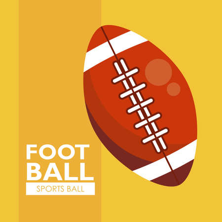 american football sport balloon icon vector illustration design Stock Illustratie