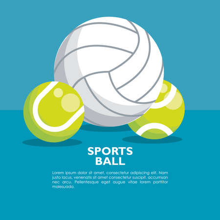 set of sports balls equipment icons vector illustration design