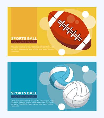 set of sports balls equipment icons vector illustration design