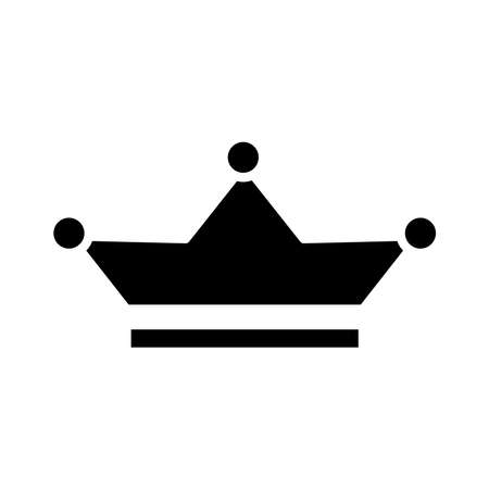 royal crown of viscount silhouette style icon vector illustration design