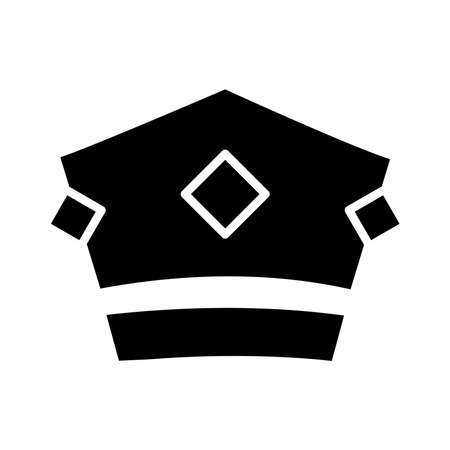 royal crown of baron silhouette style icon vector illustration design