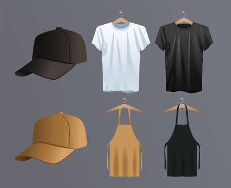 mockup, branding and package set icons vector illustration design