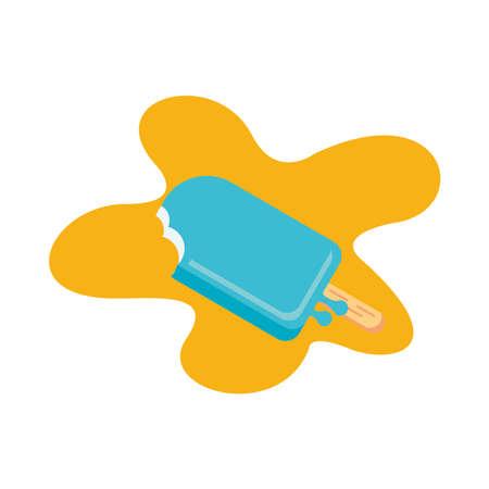 delicious ice cream in stick isolated icon vector illustration design