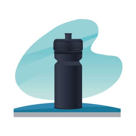 thermoplastic water bottle branding icon vector illustration design