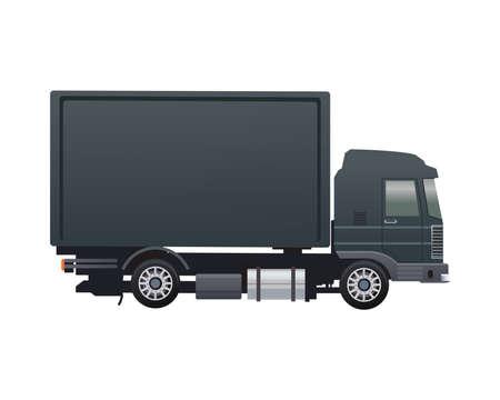 black truck vehicle brand isolated icon vector illustration design