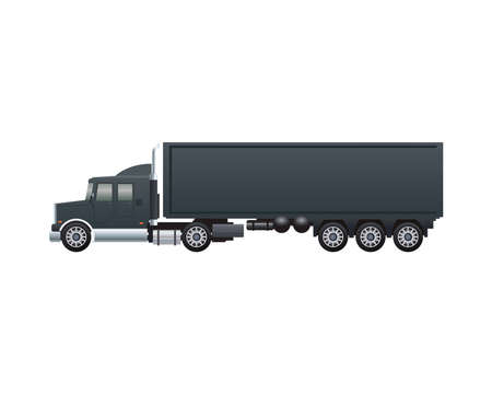 black truck car vehicle brand isolated icon vector illustration design