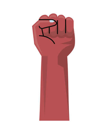afro hand human fist up isolated icon vector illustration design