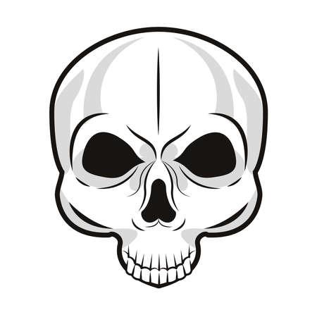 skull bone tattoo art icon vector illustration design Vettoriali