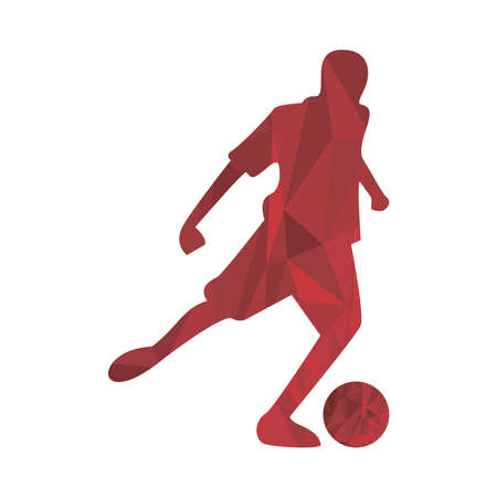 athletic man practicing soccer sport silhouette vector illustration design