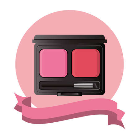 shadows colors powder make up icon vector illustration design