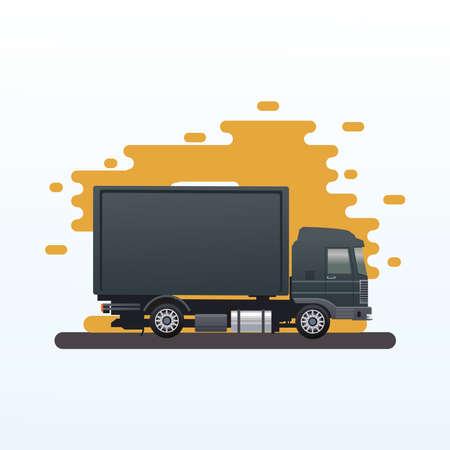 black truck car vehicle isolated icon vector illustration design Illusztráció