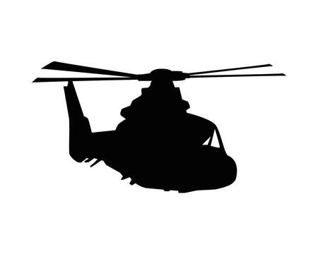 military helicopter silhouette isolated icon vector illustration design