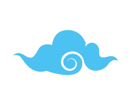 japanese cloud style isolated icon vector illustration design