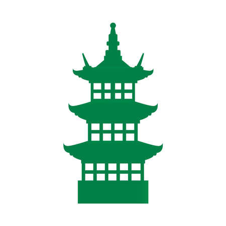 Osaka castle japanese architecture icon vector illustration design