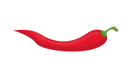 chili peppers healthy vegetable isolated style icon vector illustration design