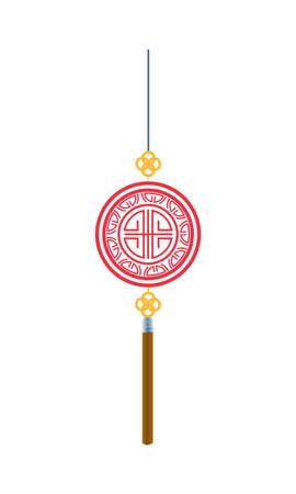 japanese culture decoration hanging icon vector illustration design Ilustração