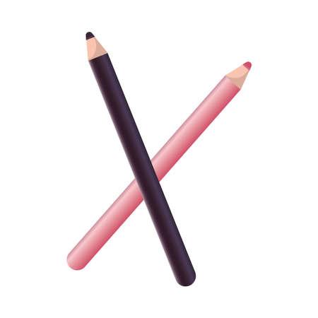 make up eyeliners elements icons vector illustration design