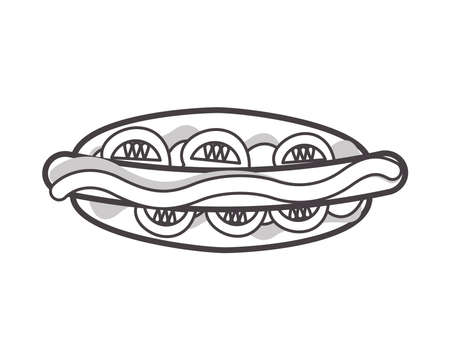 delicious hamburger fast food icon vector illustration design Ilustracja