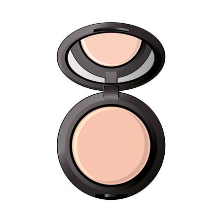 shadows colors powder with mirror make up icon vector illustration design