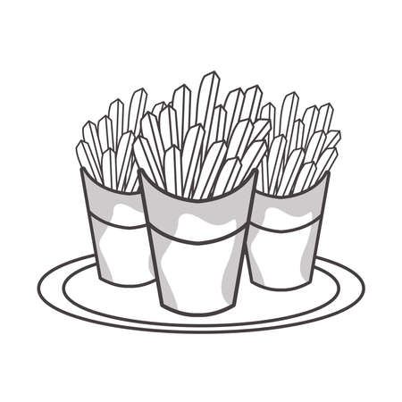 delicious french fries fast food vector illustration design