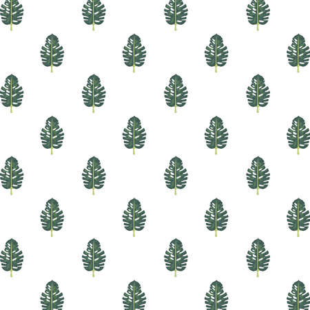 tropical leafs palm nature pattern background vector illustration design