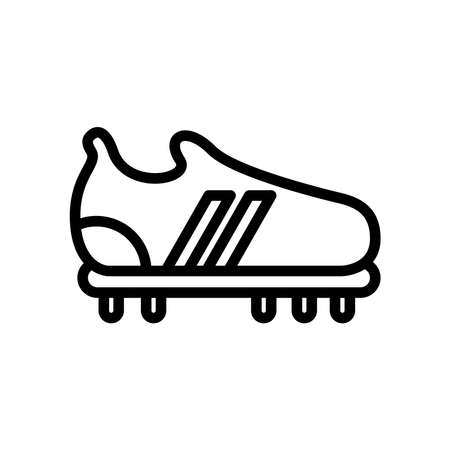 soccer shoe line style icon vector illustration design