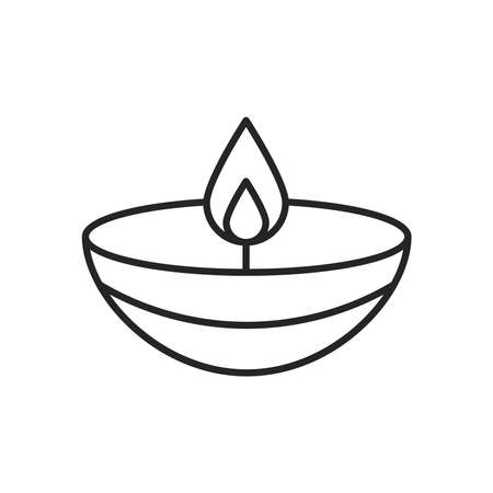 navratri candle style line icon vector illustration design Illustration
