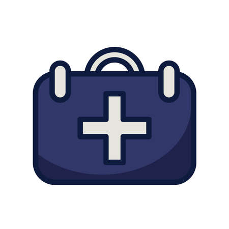 medical kit line and fill style icon vector illustration design