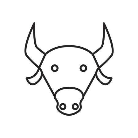 navratri sac cow line style icon vector illustration design