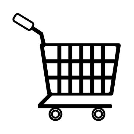 shopping cart line style icon vector illustration design