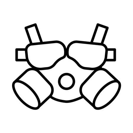 air protection mask line style icon vector illustration design 일러스트