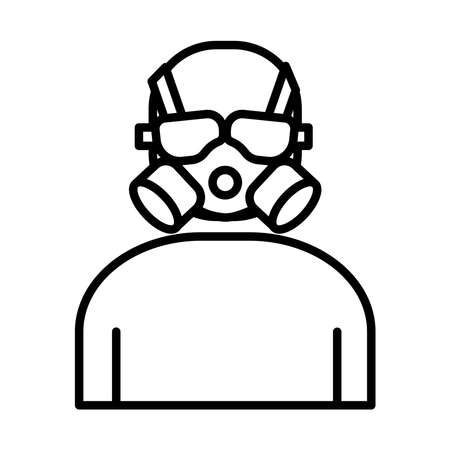 air protection mask line style icon vector illustration design