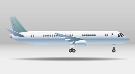 white airplane transport isolated icon vector illustration design