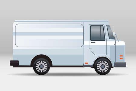 white van vehicle transport isolated icon vector illustration design Vecteurs