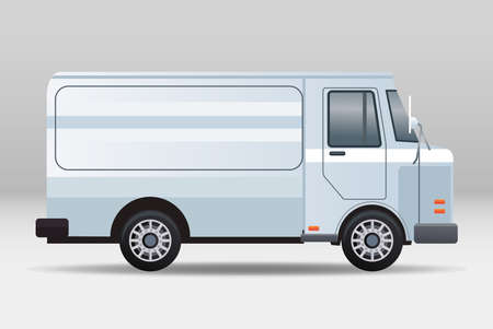 white van vehicle transport isolated icon vector illustration design Vektoros illusztráció