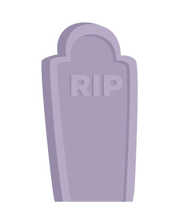 rip grave design, death tomb cementary and scary theme Vector illustration