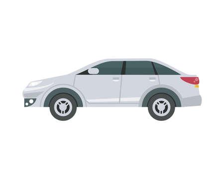 white sedan car design, Vehicle automobile auto and transportation theme Vector illustration Ilustracje wektorowe